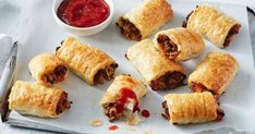 Made from sweet potato, lentils and mushrooms, these easy vego sausage rolls will have even the meat-eaters coming back for more. They're perfect for dinner or a kid's party.