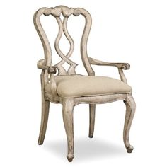 Shop for Hooker Furniture Chatelet Splatback Arm Chair - 2 per carton/price ea, and other Dining Room Chairs furniture. Furniture, Upholstered Dining Chairs, Dining Furniture, Solid Wood Dining Chairs, Chair, Painting Wooden Furniture, Chair Set, Armchair, Vintage Chairs
