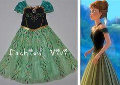 For Kids Anna Costume Anna Dress Frozen Anna Dress by FashionVivi, $49.00
