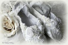 Bridal Wedding ballet slippers leather Custom by mercedesDscott, $65.00