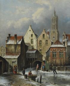 Winter in Amersfoort door O.R. de Jongh