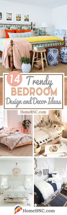 14 Trendy Bedroom Design and Decor Ideas for Your Next Makeover Style Français, Home Decor Inspiration, Decor Ideas, Trendy Bedroom, Bedroom Styles, Creative Home, Dorm Decorations, Decorating Your Home, Bedroom Decor