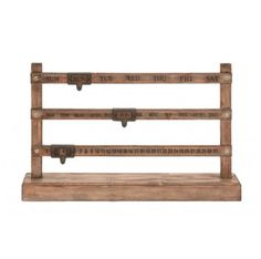 For a fresh change to the traditional calendar, this classic wood calendar makes a fun and welcome switch to use functionally or as a home accent. Dimensions: