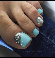 Pretty Toe Nails, Cute Toe Nails, Sassy Nails, Pedicure Colors, Pedicure Designs, Manicure And Pedicure, Toe Nail Color, Toe Nail Art, Nail Colors