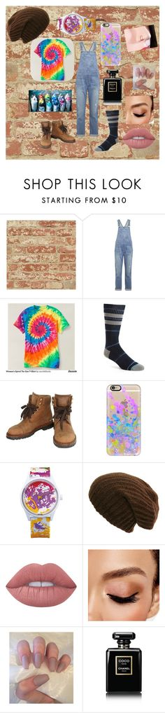 """""""Street artist"""" by maddy-tylah04 ❤ liked on Polyvore featuring RoomMates Decor, Current/Elliott, Stance, Chanel, Casetify, Q&Q, Lime Crime and Avon"""