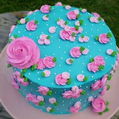 53 Ideas for birthday girl cake buttercream galleries Cake Icing, Buttercream Cake, Eat Cake, Cake Decorating Videos, Cake Decorating Techniques, Deco Cupcake, Cupcake Cakes, Gorgeous Cakes, Pretty Cakes