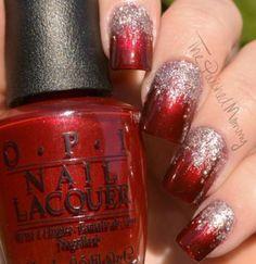 Elegant Starlight - The Polished Mommy Elegant Nails elegant xmas nails Christmas Manicure, Xmas Nails, Holiday Nails, Red Nails, Christmas Nails Glitter, Purple Nail, Gold Glitter, Fancy Nails, Pretty Nails