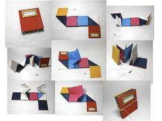 Book Objects/ Artist Books/ Unique Books by Gabriela Irigoyen, via Behance Up Book, Book Art, Casa Pop, Libros Pop-up, Folders, Material Didático, Accordion Book, Bookbinding Tutorial, Book Sculpture