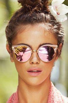 Reflective sunglasses!