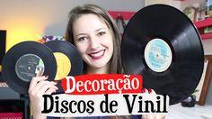 -Decorações com Discos de Vinil