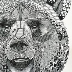 Decorative and Zentangle animals by @hejnum . Check out their Instagram. ✨✏ ️ Shared by @kitslam   YouTube by audra