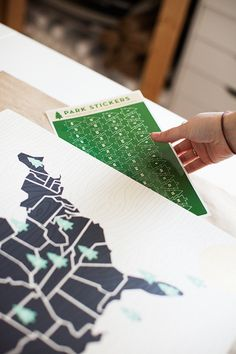 National Parks Sticker Map  | Studio Tour | UncommonGoods
