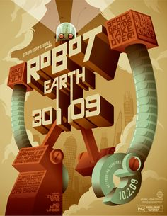 "Design - Making of ""Robot Earth 3009"" Type Illustration 