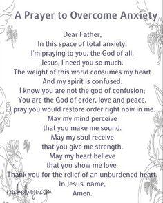 A Prayer to Overcome Anxiety -  Spiritual Warfare