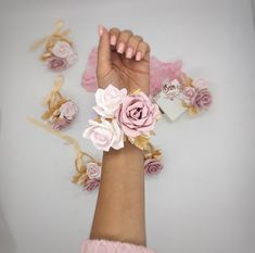Items similar to Blush Corsage. on Etsy Gold Corsage, Prom Corsage And Boutonniere, Bridesmaid Corsage, Wrist Corsage, Corsages, Wedding Champagne Flutes, Blush Pink Weddings, Fabric Roses, Dusty Rose
