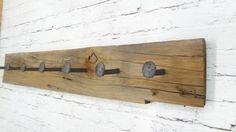 Rustic Coat Rack Railroad Spike Coat Rack - Rustic Shabby Chic Cottage