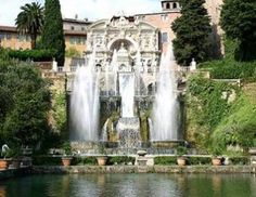 Beautiful Fountains In Front Of Home