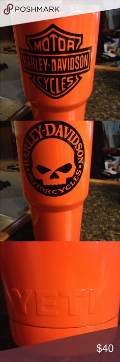 Harley Yeti Tumbler Brand new custom designed by Rock Bottom Designs, double sided, 30 oz yeti Other
