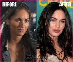 Megan Fox Plastic Surgery rumors include a nose job, cheek fillers, lip fillers, boob job, and Botox. We will be walking you through some plastic surgery before and after photos so that you can decide Megan Fox Lips, Megan Fox Body, Megan Fox No Makeup, Megan Fox Style, Megan Fox Plastic Surgery, Plastic Surgery Photos, Celebrity Plastic Surgery, Megan Fox 2007, Megan Denise Fox