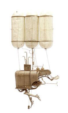 Meticulous Cardboard Flying Machines – Fubiz Media