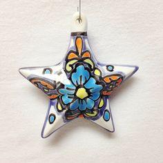 Talavera Star Christmas Ornament #oldworldpotteryofwichitafalls #oldworldpottery…