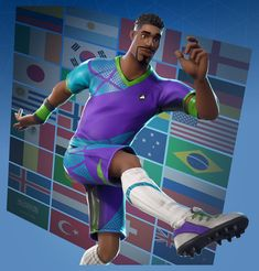 super striker is one of the soccer football skins that was released around the world - blonde soccer skin fortnite