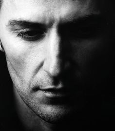 Richard Armitage - what a face for black and white photog