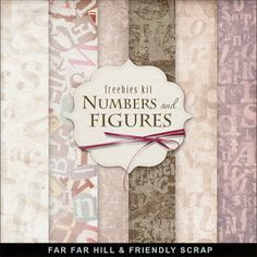 Far Far Hill: Freebies Background Kit - Numbers and Figures