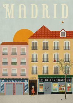 una postal de Madrid