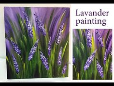How to paint lavender field \Demonstration /Acrylic Technique on canvas by Julia Kotenko Acrilic Paintings, Simple Acrylic Paintings, Acrylic Painting Techniques, Acrylic Flowers, Abstract Flowers, Abstract Canvas Art, Acrylic Painting Canvas, Lavender Paint, Lavender Flowers