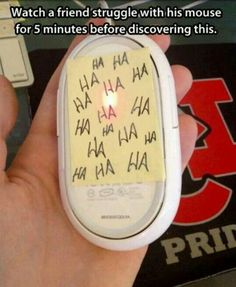Hahaha I did this to every single coworker in my office on april fools day. it was awesome