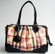 ▁▂▃  Burberry Canvas With Leather Handbag 29158 #Burberry #Handbags #Brown $299 , ....