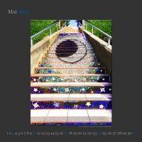 Mai 2015 Tiled Stairs – San Francisco, USA #mosaiktreppe #treppen #stairs #escaleras #treppeenbau Photo: www.smg-treppen.de  (c) smgtreppen