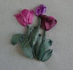 Silk Ribbon Embroidery: Silk Ribbon Embroidery Tutorial - Tulips