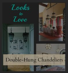 Lighting is crucial in design. When it comes to chandeliers, sometimes two is better than one. Check out the impact of double hung chandeliers.