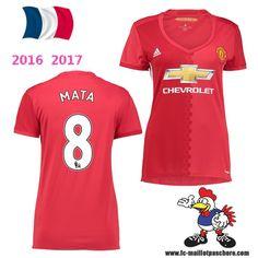 Vente Nouveau Maillot Football Manchester United Femme (MATA 8) Domicile…