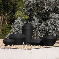 Black Crescent Garden planters add interest to a second story