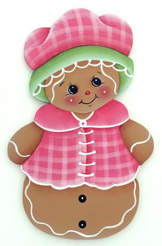 HP GINGERBREAD FRIDGE MAGNET  pink jacket