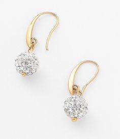 NICE Regalos hermosos - Clásicos y elegantes. Aretes con piedras de cristal incrustadas con 4 baños de oro de 18 kilates.