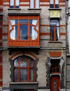 Art Nouveau Architecture | Art Nouveau Architecture, Brussels Facade 2 | Flickr - Photo Sharing!
