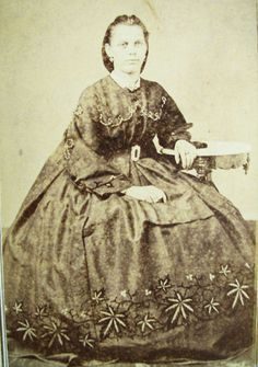 Pot leaf dress. You can't make this stuff up. Civil War Era CDV  San Francisco CA | eBay