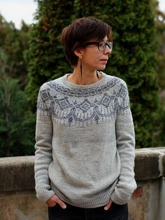 Ravelry: Sweet Lullaby pattern by Annamária Ötvös Norwegian Knitting, Fair Isle Knitting Patterns, Nordic Sweater, Baby Knitting, Ravelry, Knit Crochet, Creations, Sweaters For Women, Clothes