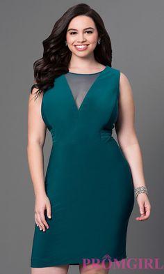 Illusion V-Neck Sleeveless Short Dress