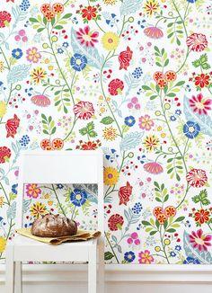 Papel pintado flores Amelie | telas & papel