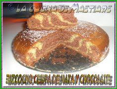 La cocina de Maetiare: Bizcocho cebra de nata y chocolate