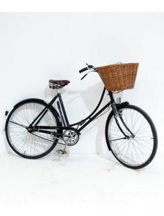 black vintage bicycle with basket - Google Search