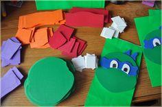 Como fazer uma sacolinha das Tartarugas Ninja – PAP – Blog Inspire sua Festa