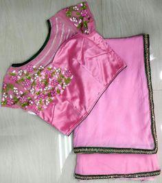 Saree Blouse Neck Designs, Fancy Blouse Designs, Kurta Designs, Hand Work Blouse Design, Stylish Blouse Design, Designer Blouse Patterns, Embroidery Stitches, Machine Embroidery, Sarees