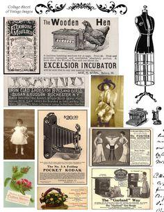 free+collage+sheet_vintage+ads.jpg 1237×1600 pixels