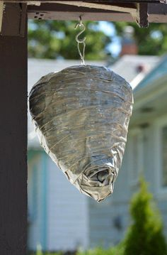 diy fake wasp nest, crafts, decoupage, how to, pest control Best Pest Control, Pest Control Services, Bug Control, Fake Wasp Nest, Bees And Wasps, Pest Management, Garden Guide, Garden Ideas, Country Life